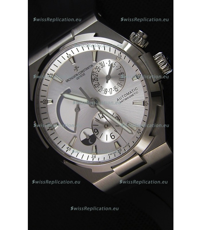 Vacheron Constantin Overseas Dual Time Steel White Dial Swiss Replica Watch