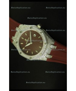 Audemars Piguet Royal Oak Ladies Watch in Brown