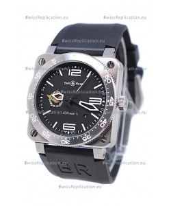 Bell and Ross BR 03 Type Aviation Brushed Steel Swiss Automatic Watch