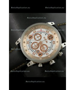 B.R.M.0011G6 Japanese Replica Quartz Watch in Black&Rose Gold Dial