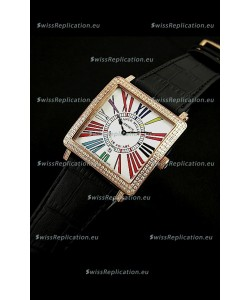 Franck Muller Master Square Swiss Replica Watch in White Dial