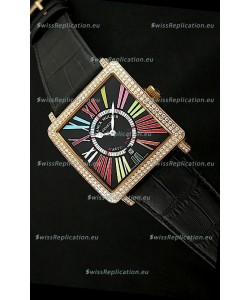 Franck Muller Master Square Swiss Replica Watch in Black Dial