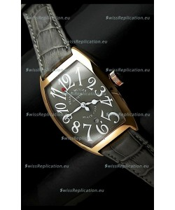 Franck Muller Geneve Casablanca Japanese Rose Gold Watch in Grey Dial