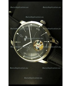 Glashuette Tourbillon Japanese Replica Watch in Black Dial