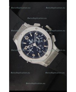 Hublot Big Bang Matte Stainless Steel Case Swiss Replica Watch - 1:1 Mirror Replica