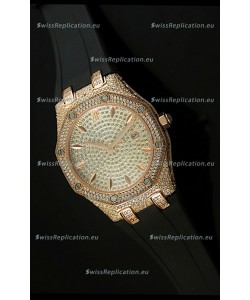 Audemars Piguet Royal Oak LADY Replica Watch in Diamonds Dial Edition