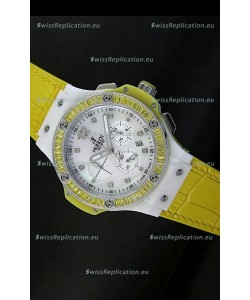 Hublot Big Bang 34MM Ladies Tutti Frutti Edition in Yellow Strap