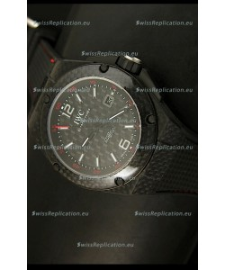IWC Ingenieur Carbon Casing Swiss Replica Watch in Black Carbon Dial