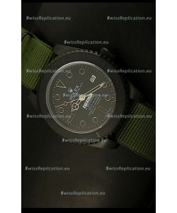 Rolex Submariner STEALTH MK IV Edition Swiss Replica Watch in Green Strap