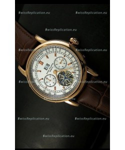 Patek Philippe Complications Tourbillon Japanese Replica Watch in Pink Gold