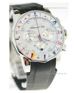 Corum Admirals Cup Chronograph Swiss Replica Watch in Rubber Strap