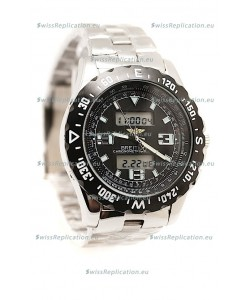 Breitling Chronograph Chronometre Replica Steel Watch in Ceramic Bezel