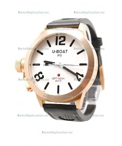 U-Boat Classico Japanese Gold Watch in White Dial