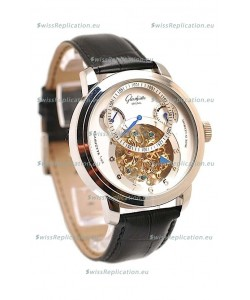 Glashutte Panaomatic Regulator Tourbillon Japanese Replica Steel Watch