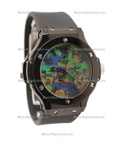 Hublot Big Bang Commando Green Camouflage Japanese Watch