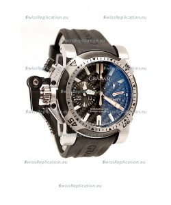 Graham Oversize Chronofighter Swiss Replica Watch in Black