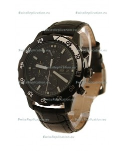 IWC Aquatimer Chronograph Japanese Replica PVD Watch