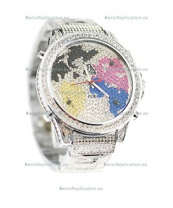 Jacob & Co Diamond Japanese Replica Watch in Multi Color Dial