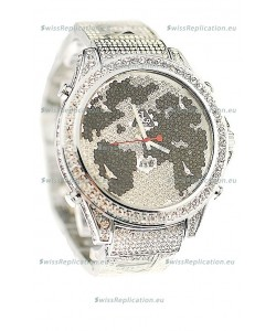 Jacob & Co Diamond Japanese Replica Watch in Black/White Diamond Dial