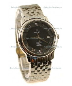 Omega Co-Axial Deville Japanese Steel Watch in Black Dial