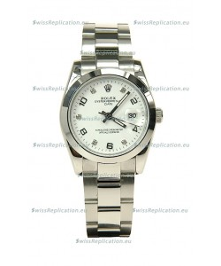 Rolex DateJust Mid-Sized Swiss Replica Silver Watch