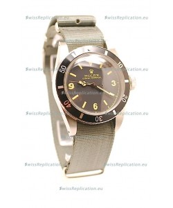 Rolex Submariner Swiss Watch Grey Nylon Strap Watch