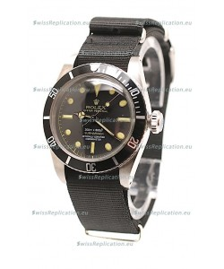 Rolex Submariner Swiss Watch Black Nylon Strap Watch