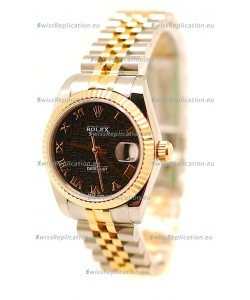 Rolex DateJust Mid-Sized Japanese Replica Two Tone Watch