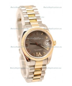 Rolex Oyster Perpetual Datejust Diamonds VI Swiss Replica Watch -36MM
