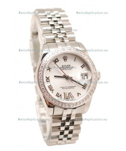 Rolex Oyster Perpetual Datejust Diamonds VI Japanese Replica Watch -36MM