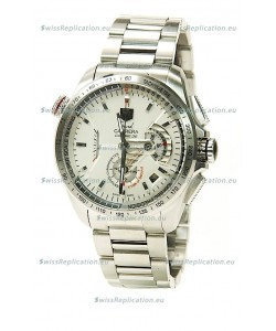 Tag Heuer Grand Carrera Calibre 36 Swiss Replica Watch in White Dial