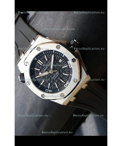 Audemars Piguet Scuba Japanese Replica Watch Black Dial
