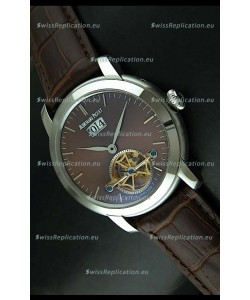 Audemars Piguet Jules Tourbillon Japanese Replica Watch in Brown Dial