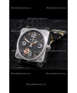 Bell and Ross BR013 97 Power Reserve Swiss Watch in Black Dial