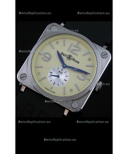 Bell & Ross Japanese Watch in Gold Ivory Dial