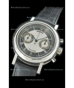 Breguet REF 1775 Swiss Replica Watch in Grey & Silver Dial