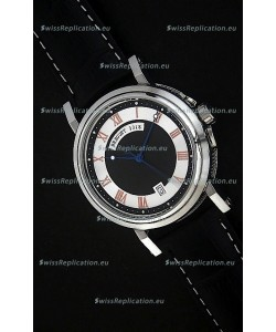 Breguet De La Marine Swiss Replica Steel Watch in Black & White Dial