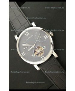 Cartier Calibre de Swiss Tourbillon Grey Watch