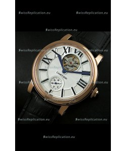 Ballon De Cartier Flying Tourbillon Japanese Replica Watch - Pink Gold Case