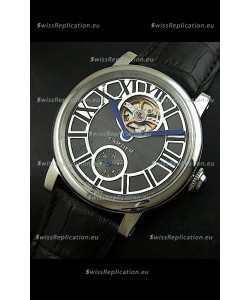 Ballon De Cartier Flying Tourbillon Japanese Replica Watch - Steel Case