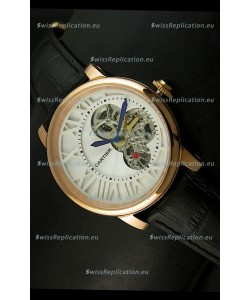Rotonde De Cartier Cadran Love Japanese Replica Watch - Yellow Gold Case