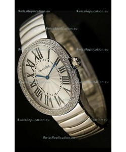 Cartier Baignoire Japanese Replica Watch with Diamonds Bezel