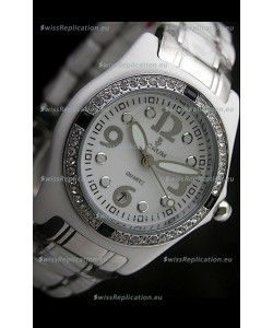 Corum Imitation Ceramics Japanese Replica Watch in White Dial