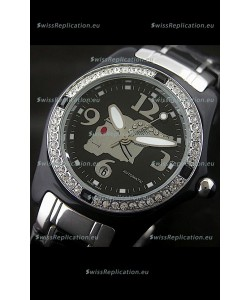 Corum Imitation Ceramics Japanese Replica Watch in Black Dial