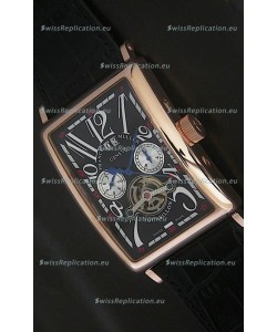 Franck Muller Long Island Japanese Replica Watch in Black Dial