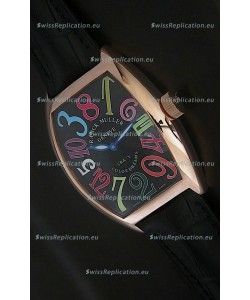 Franck Muller Crazy Color Dreams Japanese Replica Watch in Black Dial