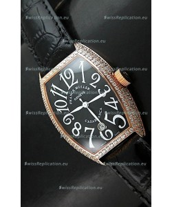 Franck Muller Casa Blanc Japanese Replica Watcha in Black Dial