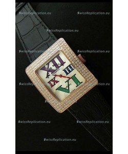 Franck Muller Geneve Infinity Japanese Gold Watch in Multi Color Roman Markers