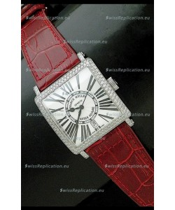 Franck muller Master Square Japanese Replica Watch in Red Strap