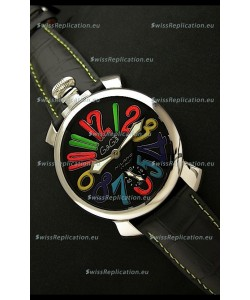 Gaga Milano Italy Japanese Replica Watch in Black Dial
